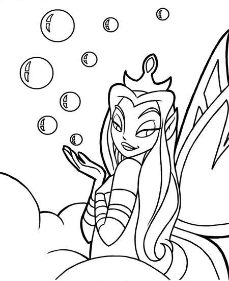 neopet faerie coloring pages - photo #2