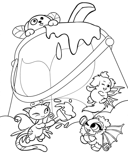 neopet faerie coloring pages - photo #30