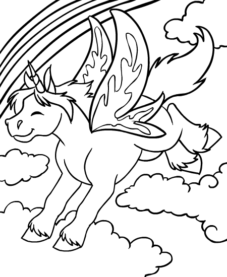 unicorn faerie coloring pages - photo#2