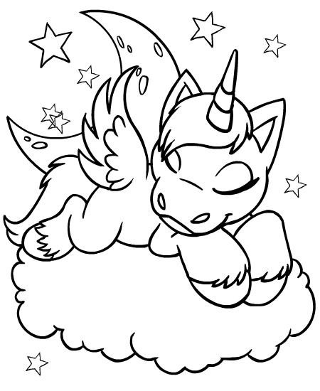 unicorn faerie coloring pages - photo#6