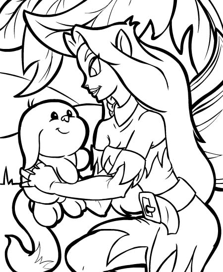neopet faerie coloring pages - photo #3