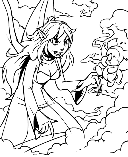 neopet faerie coloring pages - photo #19