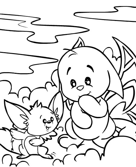 neopets coloring pages printable | Neopets - Faerieland Colouring Pages