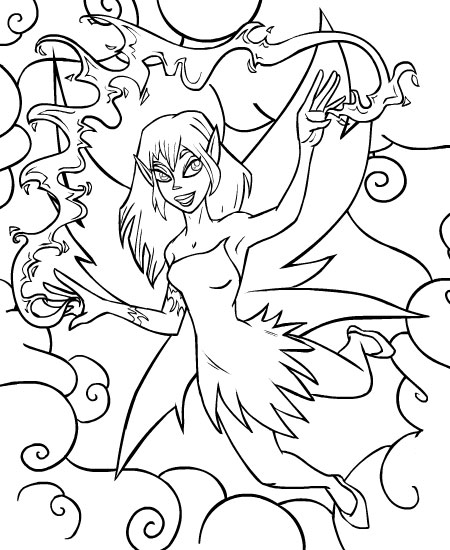 neopet faerie coloring pages - photo #10