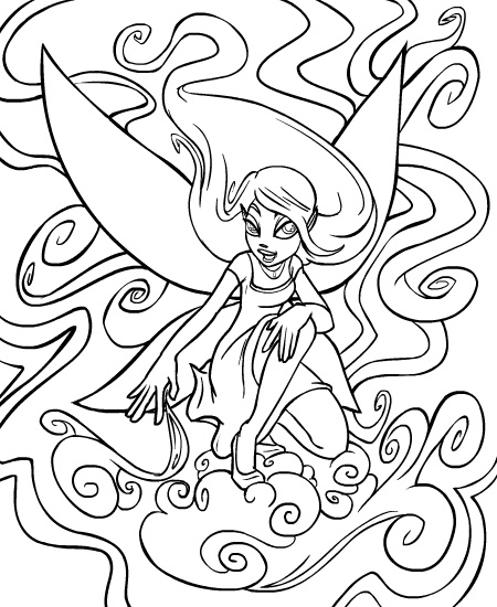 neopet faerie coloring pages - photo #25