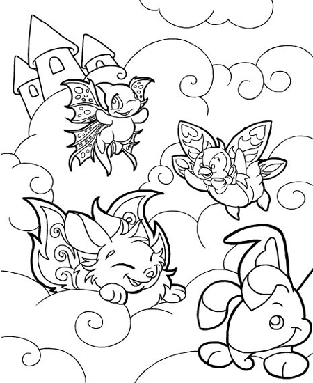 neopets coloring pages Neopets   Faerieland Colouring Pages neopets coloring pages