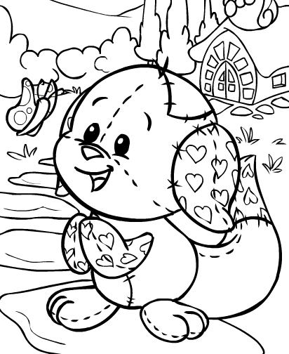 neopets coloring pages printable | Neopets - Brightvale Colouring Pages
