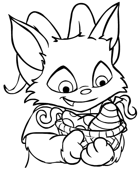 neopet faerie coloring pages - photo #14