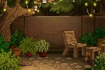 Dreamy Garden Patio Background