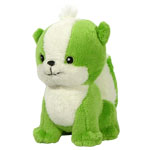 Mini Green Doglefox Plushie