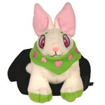 Green Cybunny Plushie with Velvet Bag