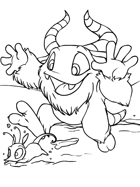 neopets coloring pages Neopets   Terror Mountain Colouring Pages neopets coloring pages
