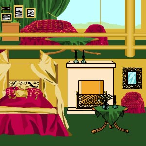 Old artwork of a five-star room