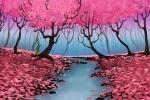 Rainy Spring Day Background