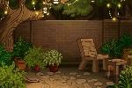 Dreamy Garden Patio Background